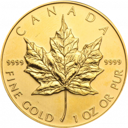 Golden Maple Leaf coin - 1 troy ounce mixed years