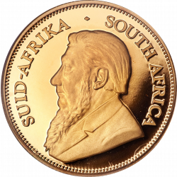 Golden Krugerrand coins - 1 troy ounce